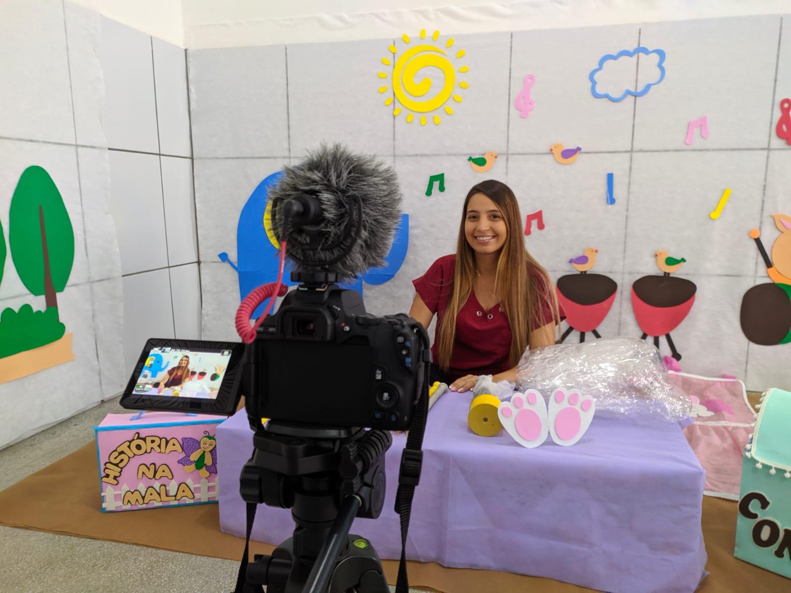 Sapé conta com núcleo de produção de aulas remotas para crianças da rede municipal
