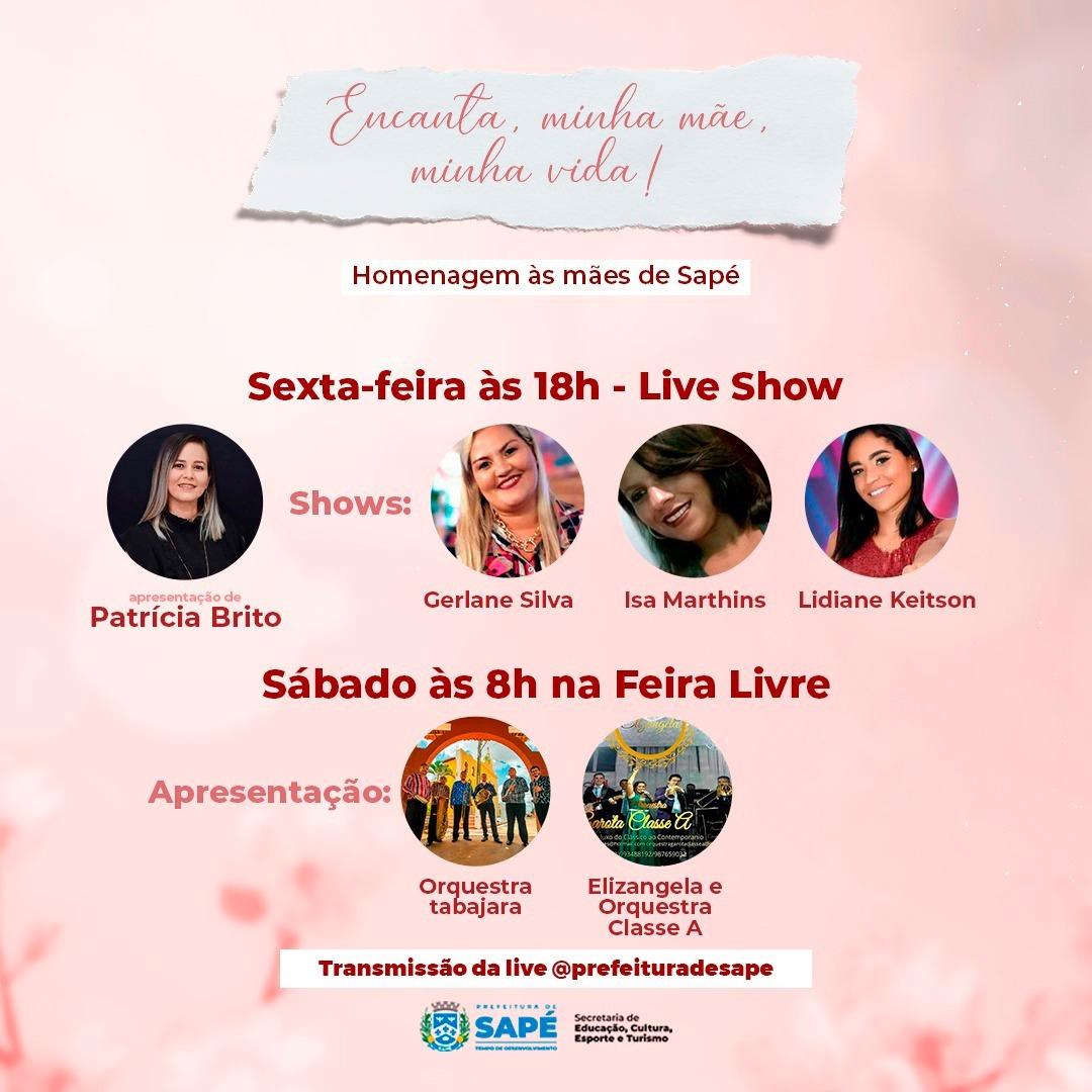 Sapé comemora Dia das Mães com apresentações, dia da beleza e orientações às mulheres