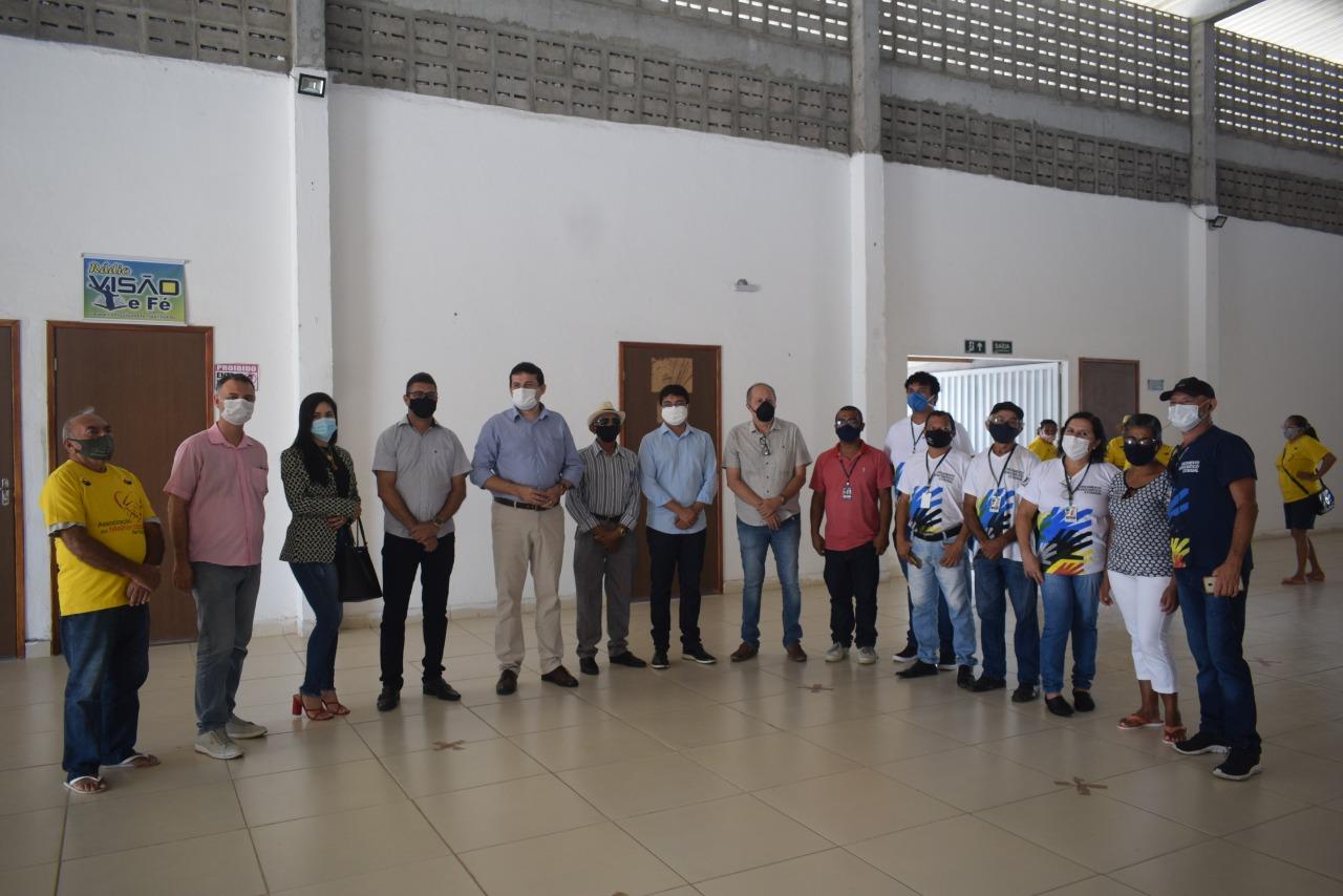 Sapé recebe visita de secretário e técnicos do Orçamento Democrático Estadual