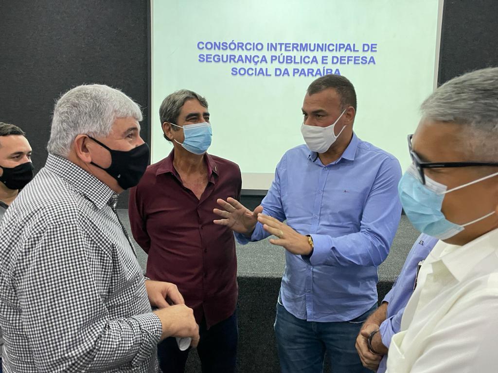 Major Sidnei participa de reunião para discutir implantação de Consórcio Intermunicipal de Segurança Pública